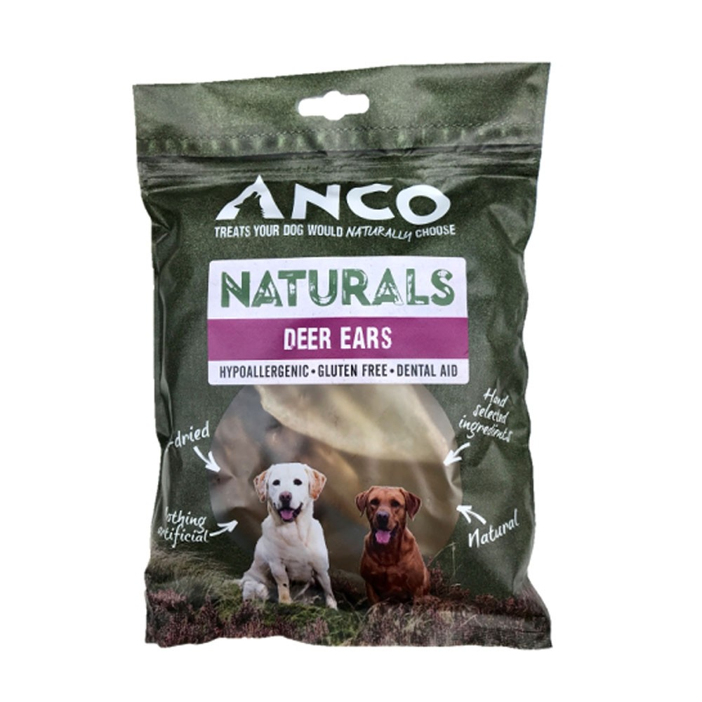 Anco Naturals deer Ears for dogs