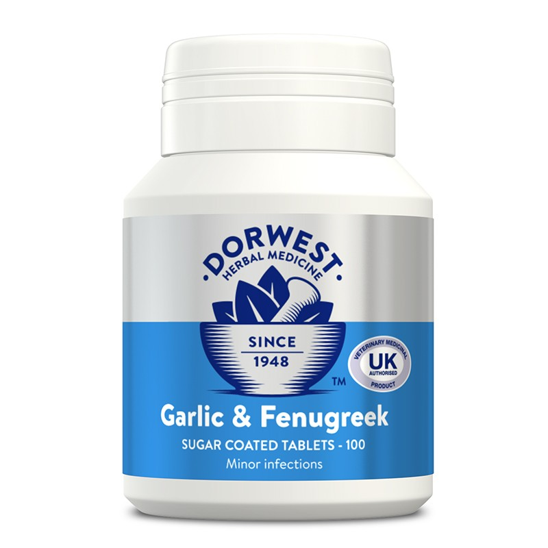 Dorwest garlic and fenugreek tablets for dogs and cats