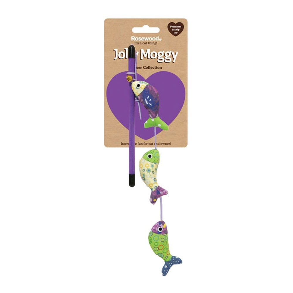 Jolly Moggy Patchwork Fish Teaser Cat Toy