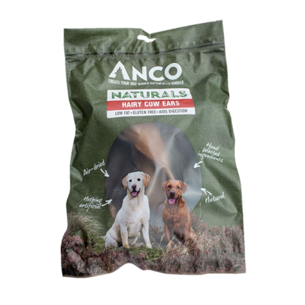 Anco Naturals Hairy Cow Ears for dogs