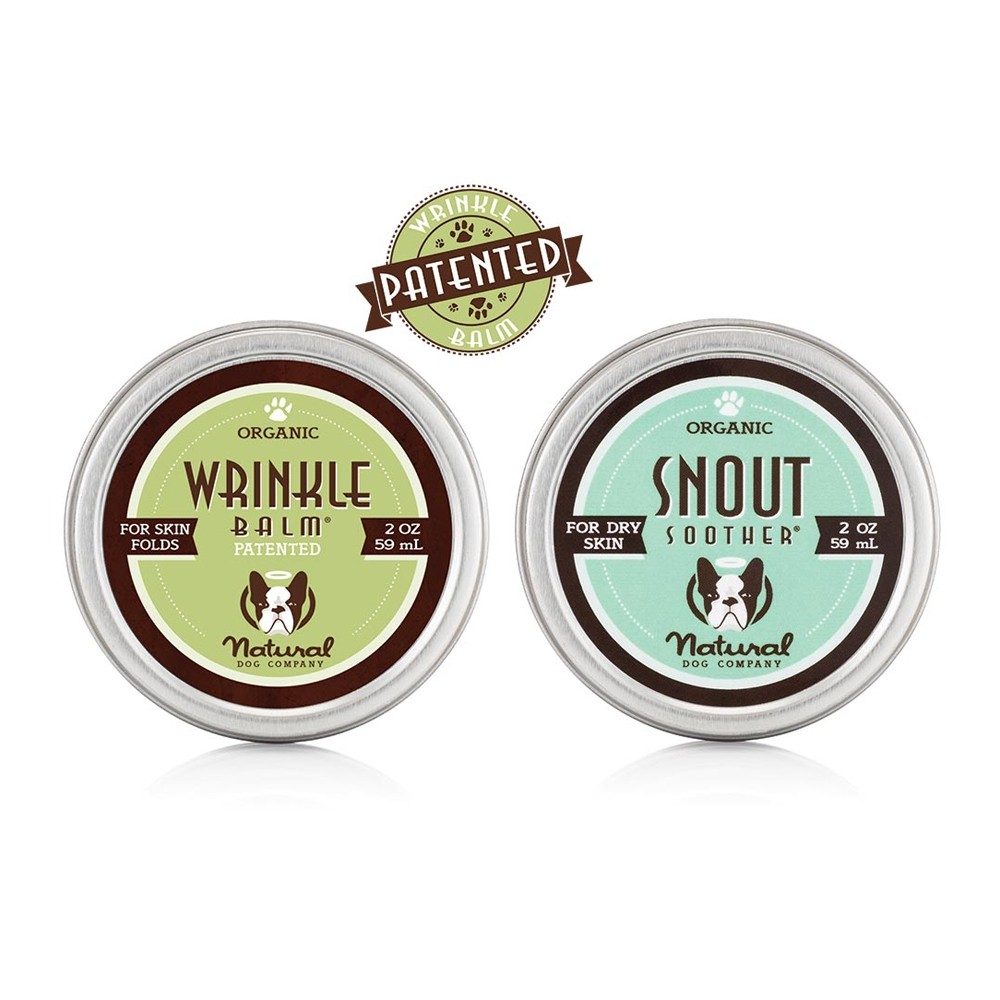 Natural Dog Company Combo - Wrinkle Balm and Snout Soother.