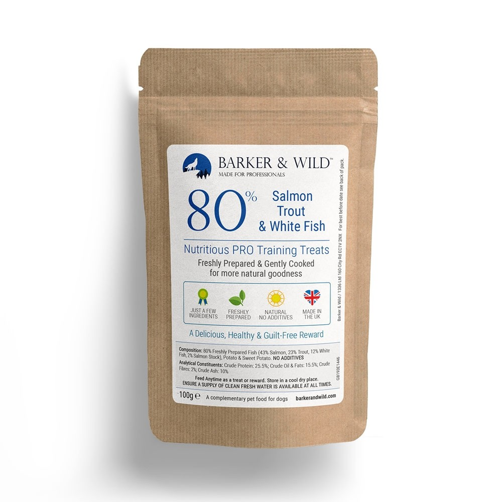 Barker and Wild Fish treats 100g