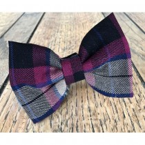Albies Burgundy and Tan Tartan Bow tie