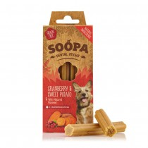Soopa Dog Dental Sticks - Cranberry and Sweet Potato