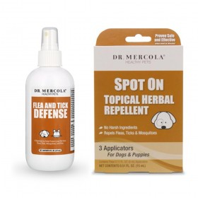 Dr Mercola Flea & Tick Duo - Spot On for Dogs & Flea & Tick Defense for Pets
