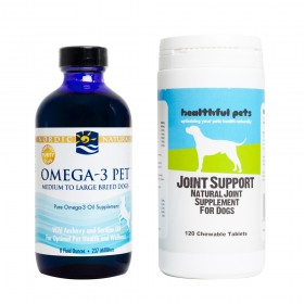 Healthful Pets Joint Support Tablets (120) with Nordic Naturals Omega-3 fish oil 237ml