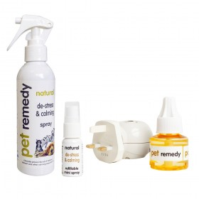 Pet Remedy - 200ml spray, plug in diffuser with 40ml bottle and a free 15ml spray (worth £6)