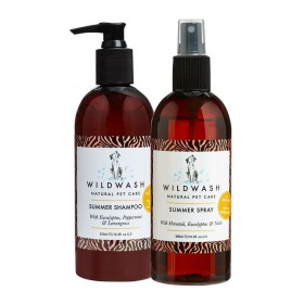 WildWash Pro Summer Shampoo and Spray for Dogs and Horses Flea & Tick Repellent