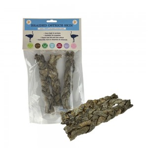 JR Pet Products Braided Ostrich Skin