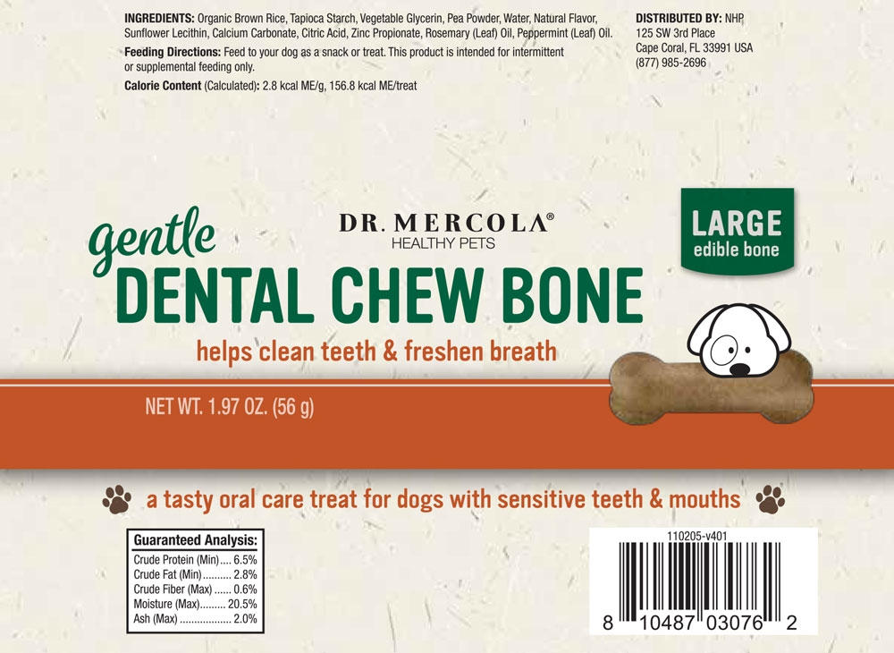 Dr Mercola Dental Bone Large Gentle