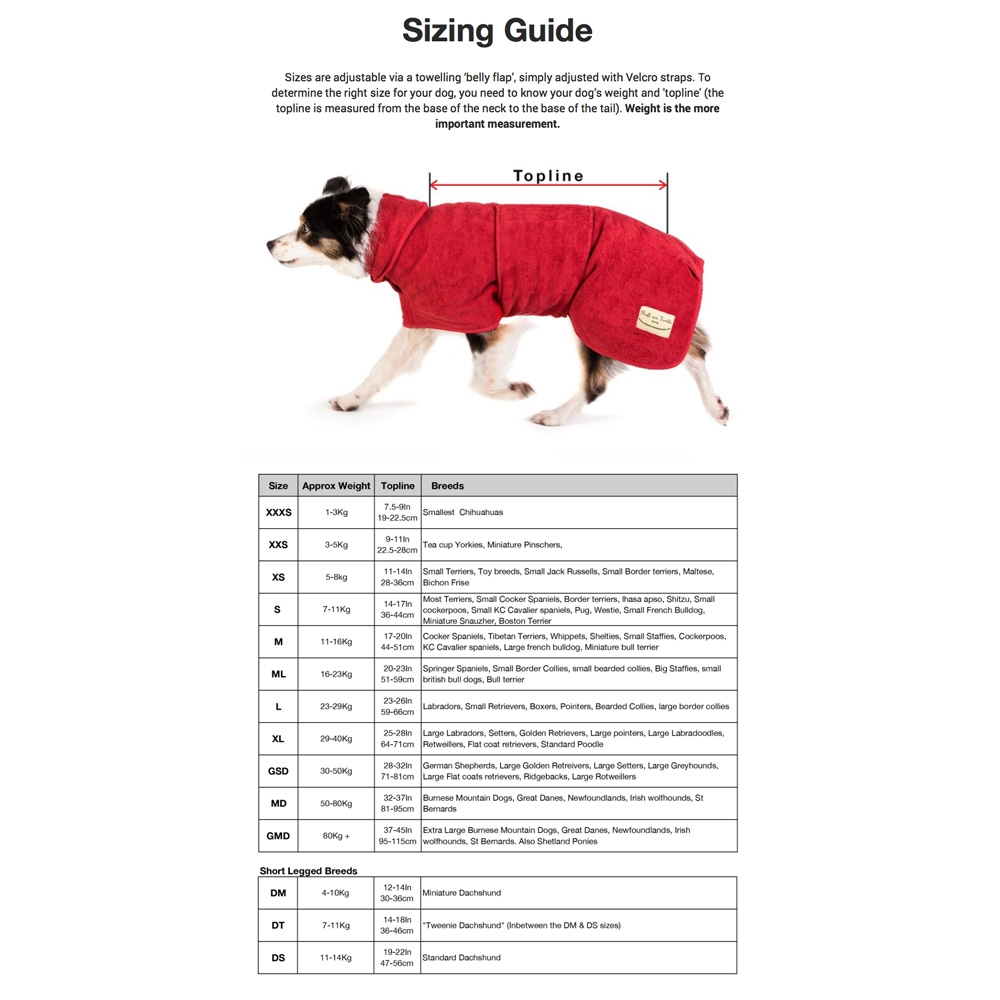 3d19f80564 Ruff   Tumble Dog Towel Coats. Delivered by Healthful Pets